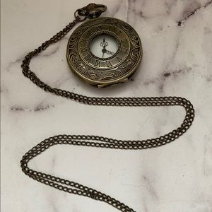 Long pocket watch necklace